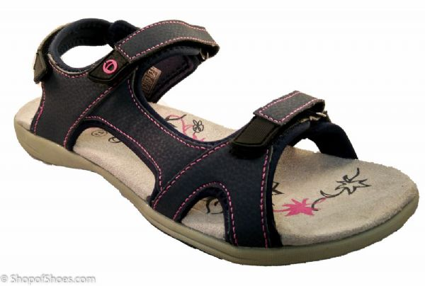 Cotswold Velcro walking navy with pink detail beach trek sandal